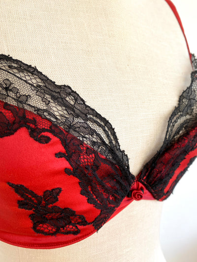 C. Gilson Red Silk Bra 34D