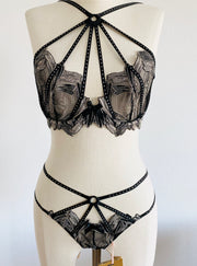 Christalina Black Crystal Set 32DD Sz 2