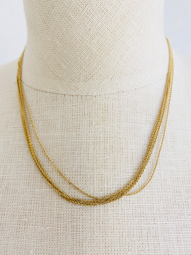 14K Gold 5-Strand Cable Chain Necklace