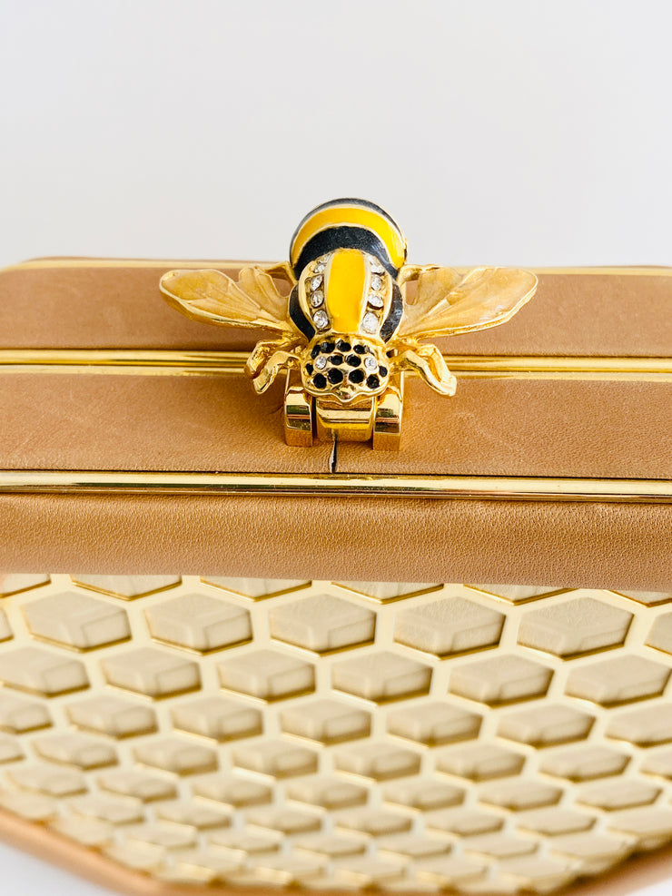 1985 Honeycomb Bee Leather Handbag