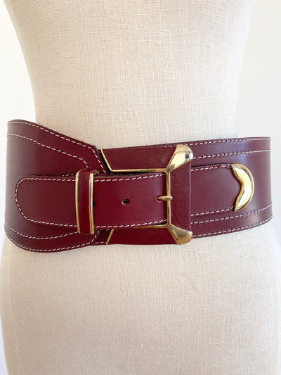 Italian I. Magnim Leather Belt