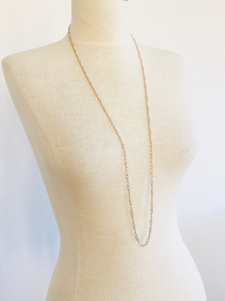 Italian 14K Rose Gold Necklace