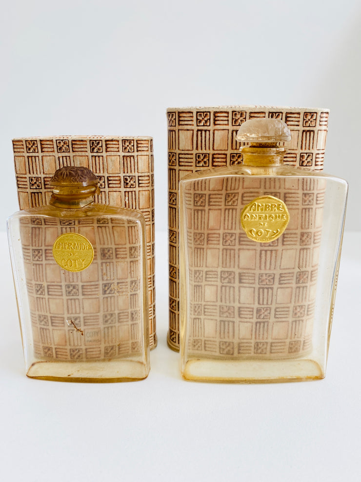 Early Lalique Coty Perfume Bottles