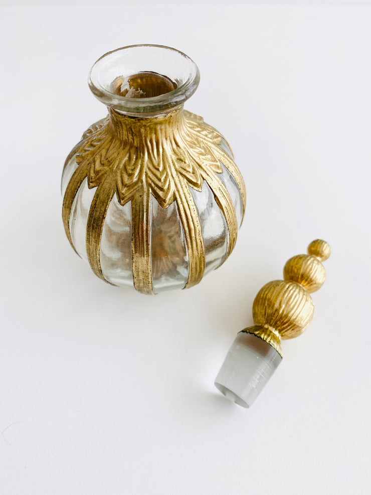 1950's Gold Perfume Bottle