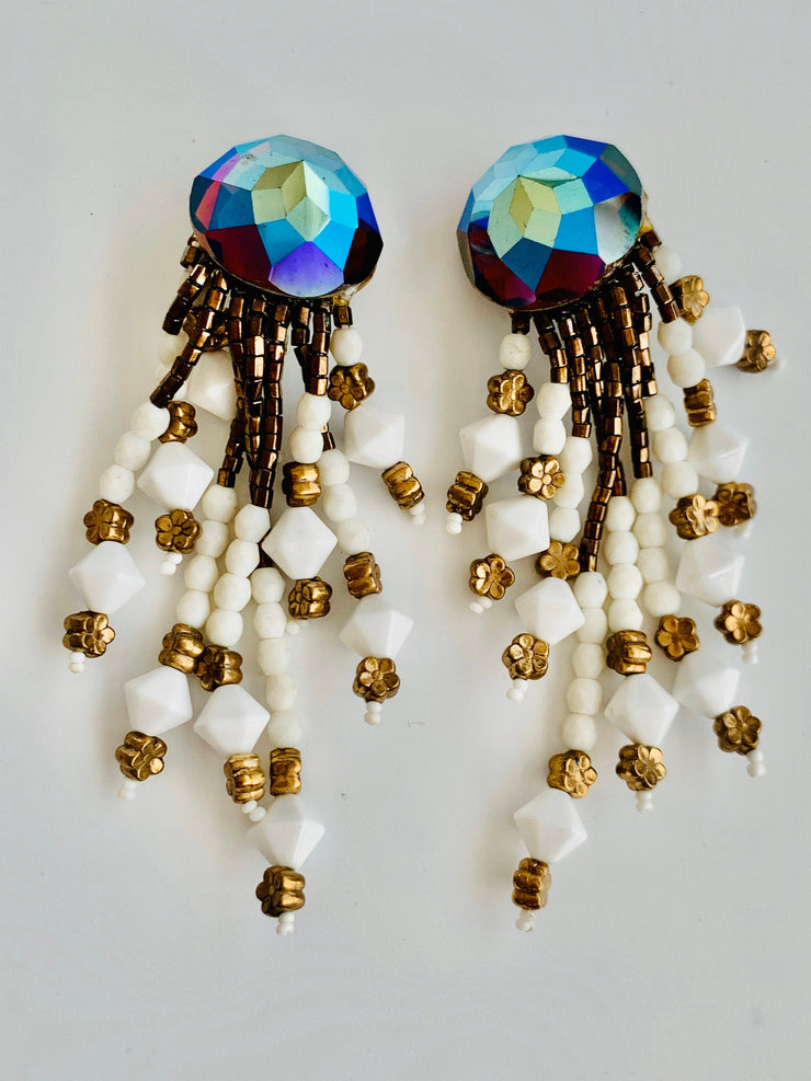1980's Tassel Clip Earrings