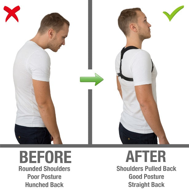 Increased height from better posture