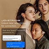 JoveTrans Mix Translator Earbuds, Portable Language Translator Device.