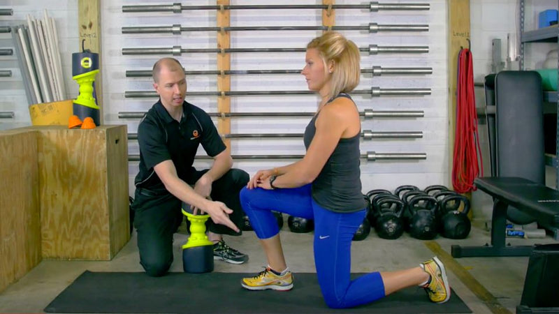 acumobility ball and acumobility eclipse foam roller to release trigger points in the legs for runners mobility
