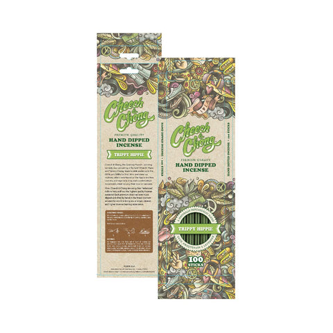 Cheech and Chong Premium Natural Incense Sticks Relaxing, Stress Relief, Meditation, Refreshing, Sensuality Peaceful Tantalizing Aroma - Trippy Hippie - Sage, Sweetgrass, & Lavender - 100ct