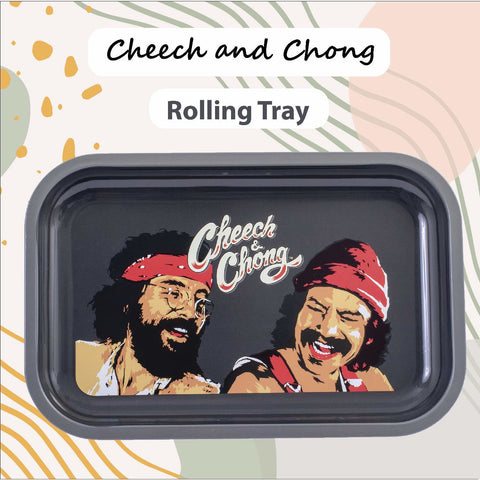 Cheech and Chong Premium Rolling Tray – Multi Functional Accessory to Help Roll your Herbs - Laughing Friends Design
