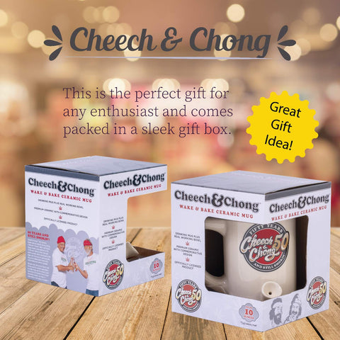 Cheech and Chong Ceramic 2 in 1 Combo Pipe Mug - Dual-Function | Coffee Mugs with Pipe | Hot Chocolate, Beverage Mug – Premium Quality Ceramic, Drinking Mug & Gift Box Set Tie Dye - Purple