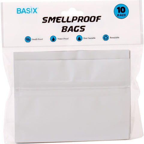 10-Pack Small Resealable Smellproof Bags 3in x 4in