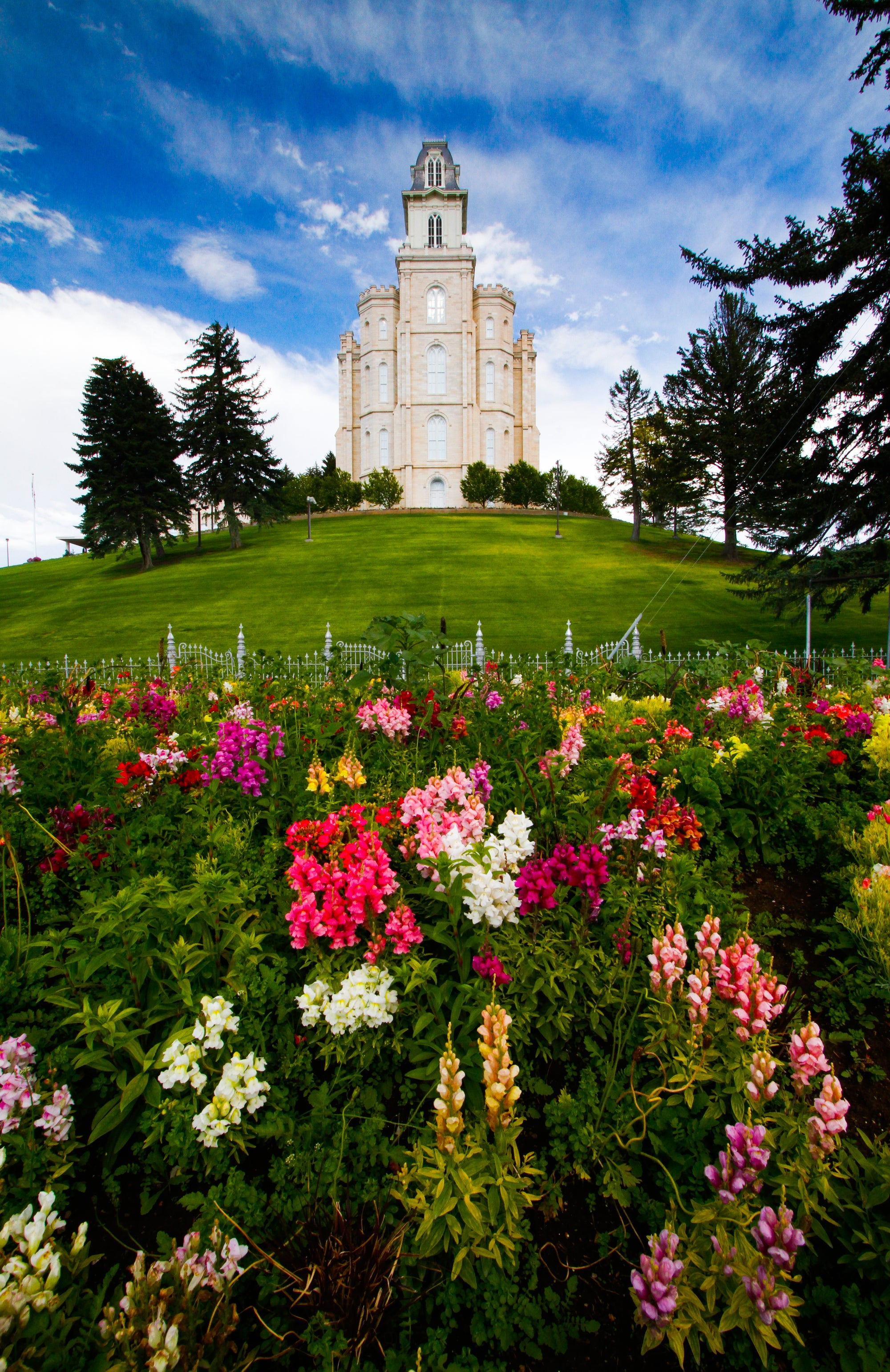 Church of Jesus Christ Temple, Manti, Utah.
