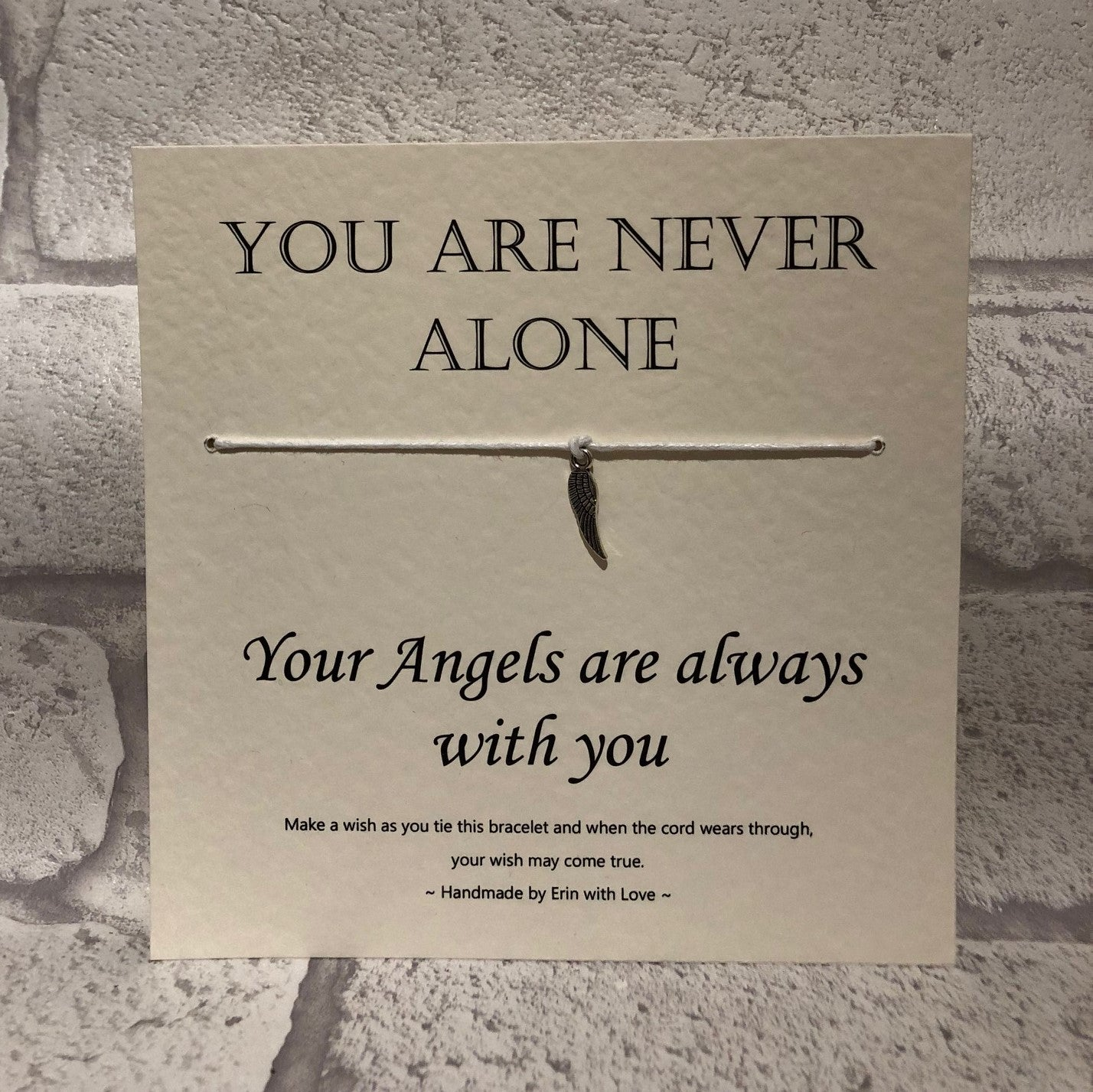 Angels - You Are Never Alone  Wish Bracelet