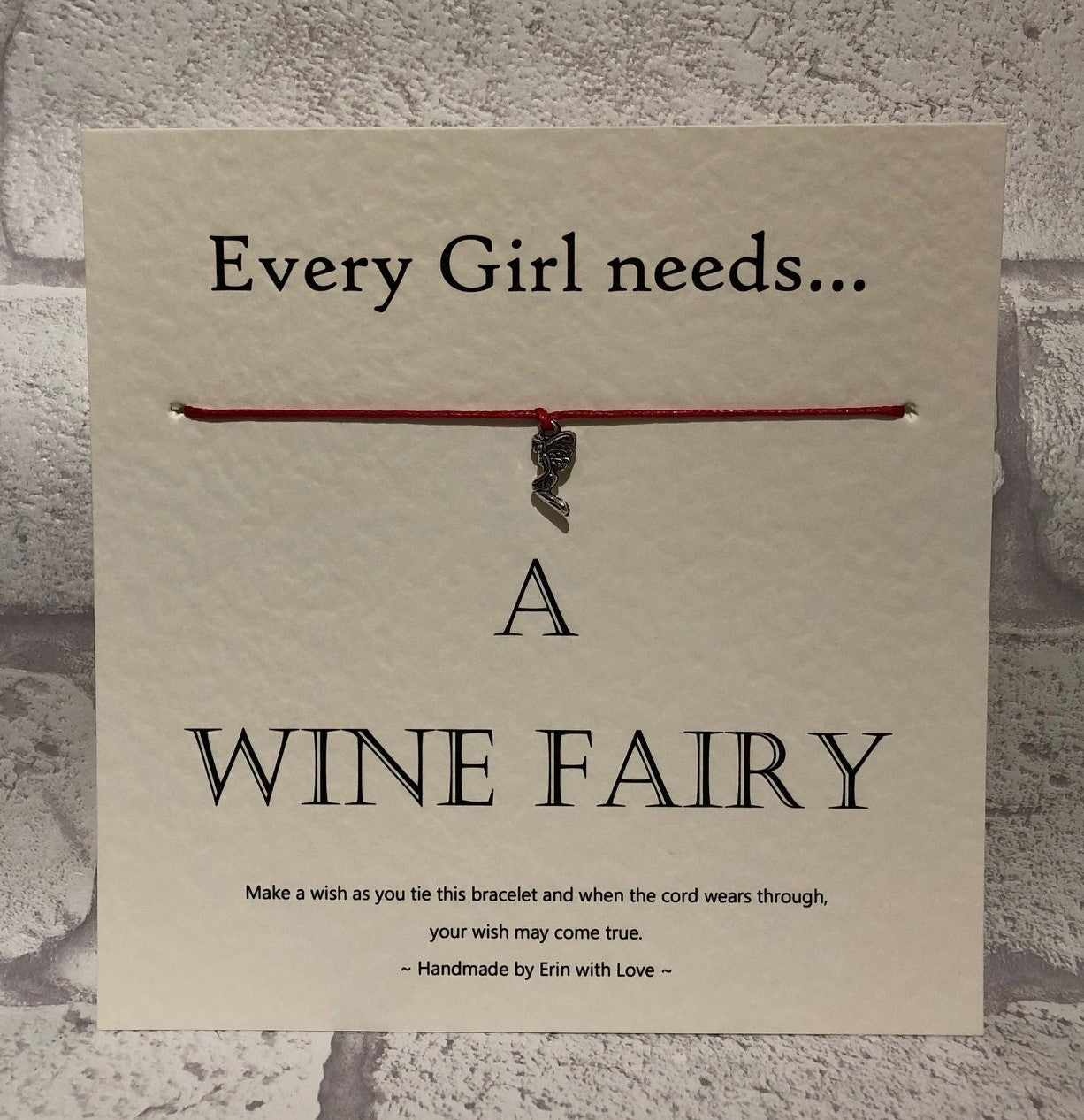 Fairy - Every Girl Needs A Wine Fairy  Wish Bracelet