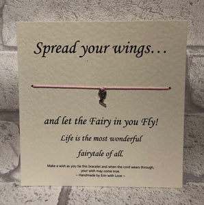 Fairy - Spread Your Wings...  Wish Bracelet