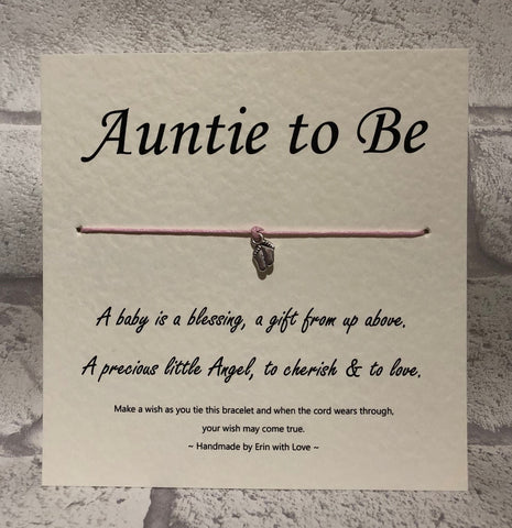 B - Auntie To Be  Wish Bracelet