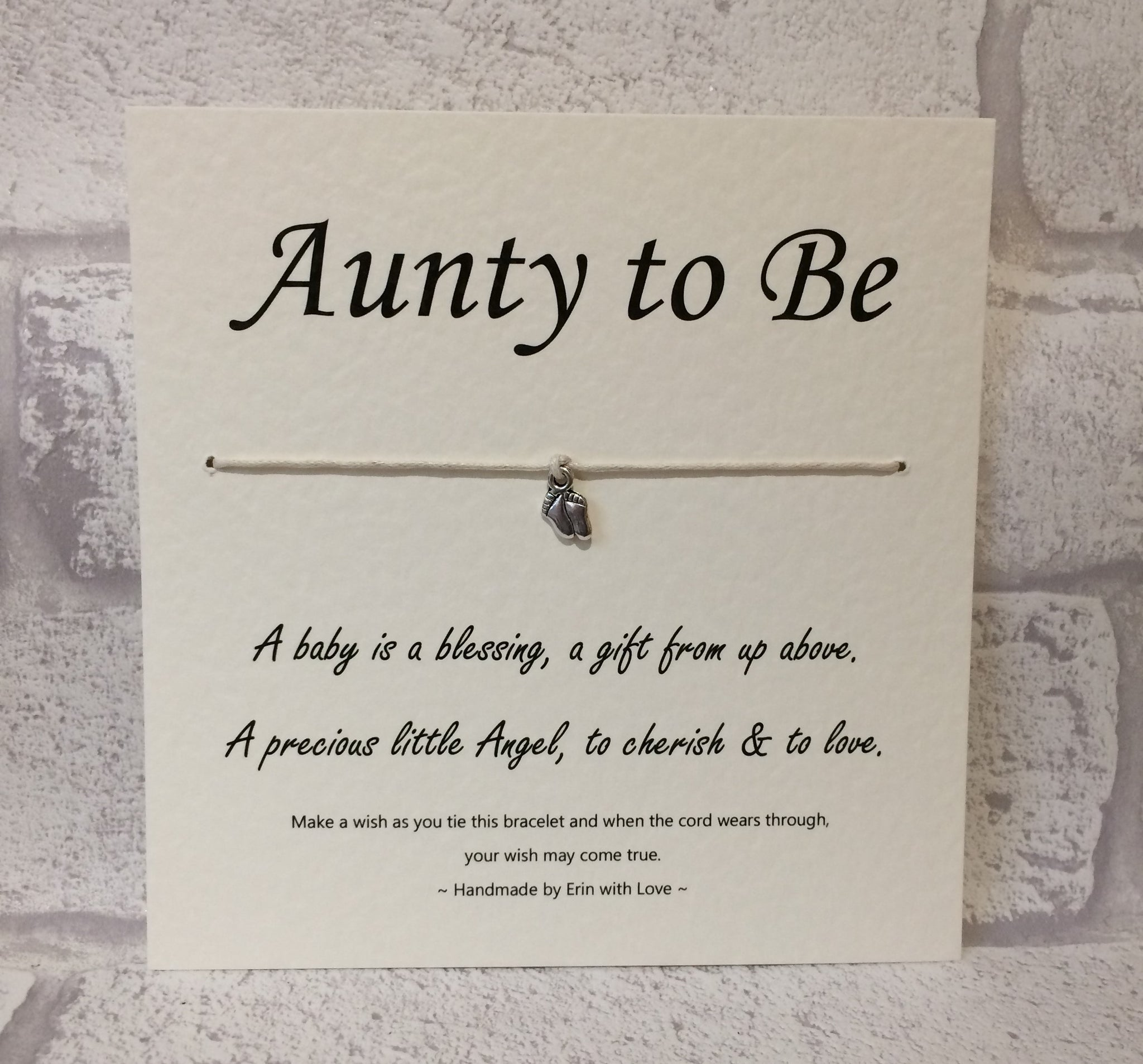 B - Aunty To Be  Wish Bracelet
