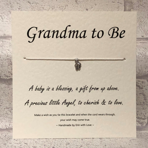 B - Grandma To Be  Wish Bracelet