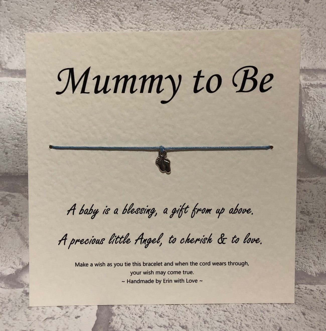 B - Mummy To Be (Blue Bracelet)  Wish Bracelet