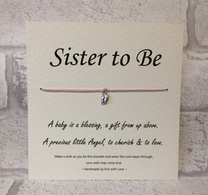 B - Sister To Be  Wish Bracelet