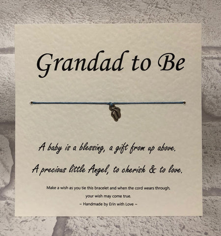 B - Grandad To Be  Wish Bracelet