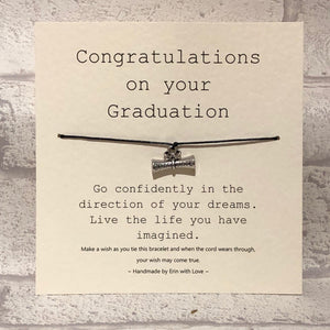 Congratulations On Your Graduation...  Wish Bracelet