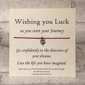 Good Luck On Your Journey....  Wish Bracelet