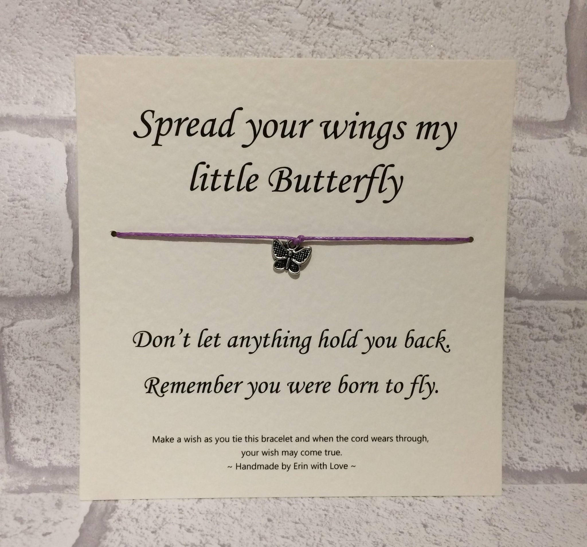 Spread Your Wings, My Little Butterfly...  Wish Bracelet