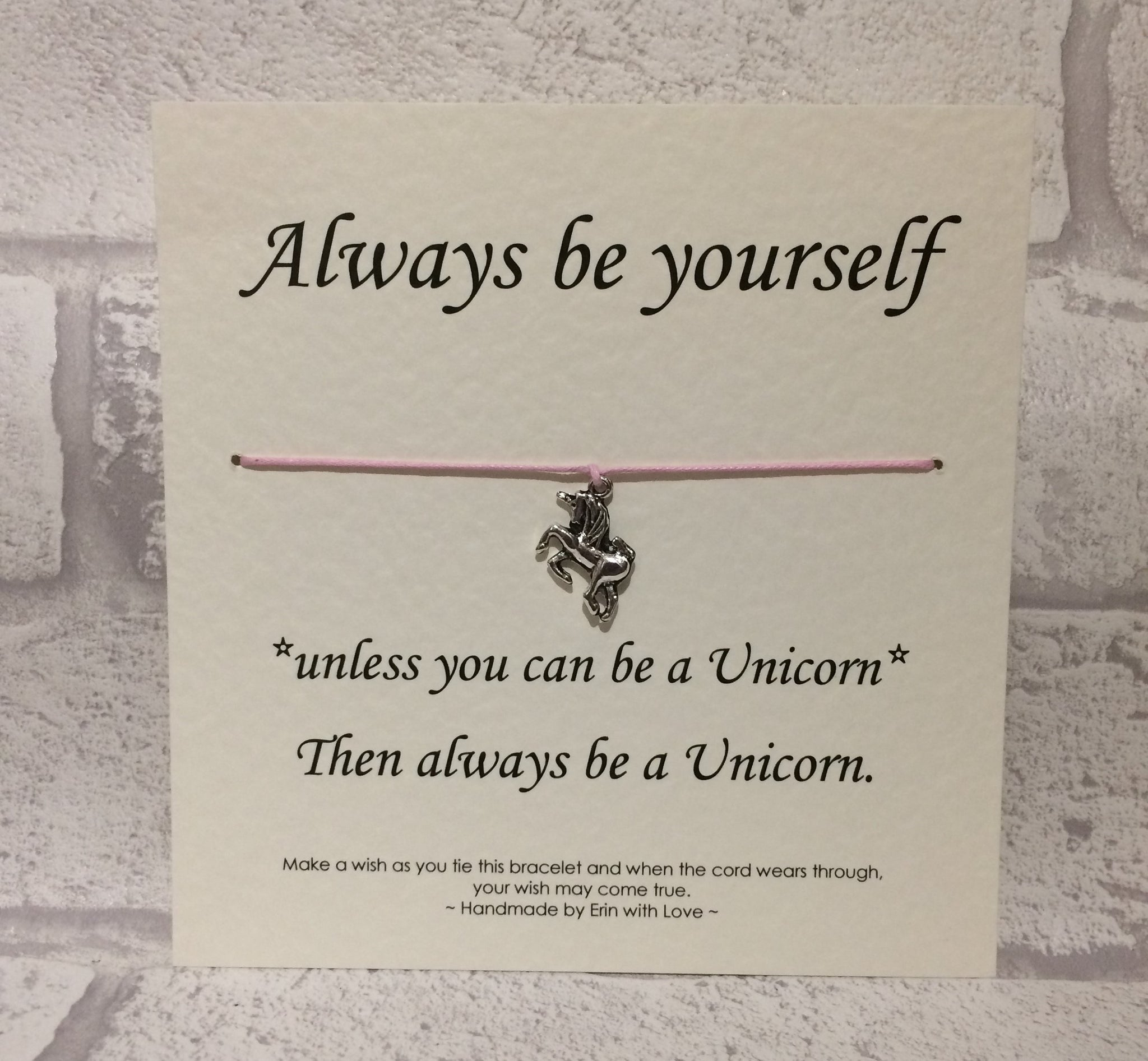 Always be a Unicorn  Wish Bracelet