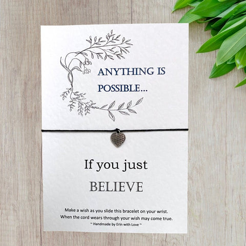 Anything is possible Wish Bracelet Message Card & Envelope