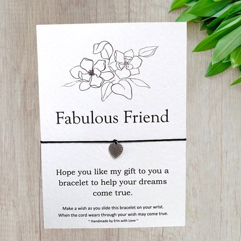 Fabulous Friend Wish Bracelet Message Card & Envelope