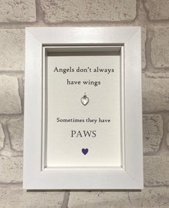 Angels - Angels Don't Always Have Wings... Box Frame