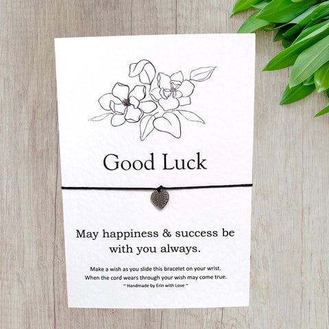Good Luck Wish Bracelet Message Card & Envelope
