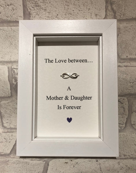 The Love Between A Mother And Daughter...  Box Frame