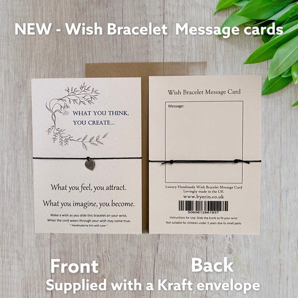 What You Think, You Create  Wish Bracelet Message Card & Envelope