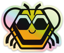 "Load image into Gallery viewer, Baby Bee Holographic 3"" Sticker"