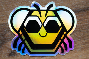 "Baby Bee Holographic 3"" Sticker"