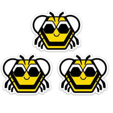 "Load image into Gallery viewer, 3"" Baby Bee Vinyl Sticker"