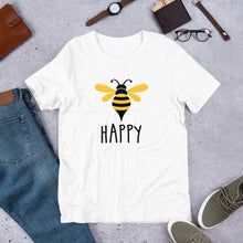 Load image into Gallery viewer, Bee Happy Short-Sleeve Unisex T-Shirt