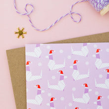 Load image into Gallery viewer, Santa Dog - Origami Dog Pattern Christmas Card