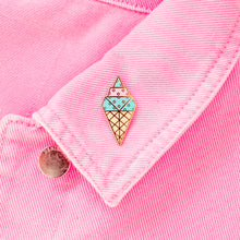 Load image into Gallery viewer, Origami Ice Cream Enamel Pin