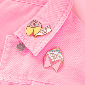 Positive Fortune Cookie Enamel Pin