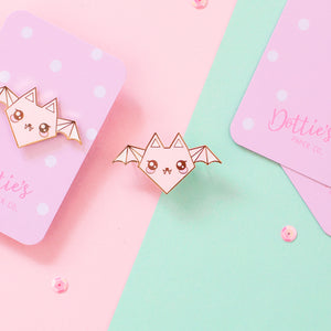 Origami Bat Enamel Pin