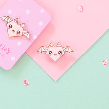 Load image into Gallery viewer, Origami Bat Enamel Pin