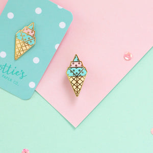 SECONDS SALE - ORIGAMI ICE CREAM ENAMEL PIN