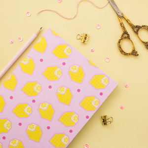 Pink Lemonade Origami Lemon A5 Notebook