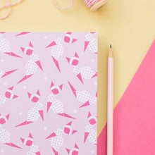 Load image into Gallery viewer, Pink Origami Kitty A5 Notebook