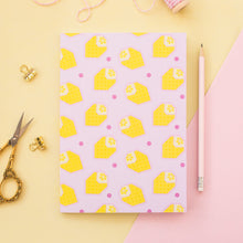 Load image into Gallery viewer, Pink Lemonade Origami Lemon A5 Notebook
