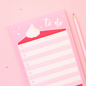 Origami Cake Slice To Do List Notepad